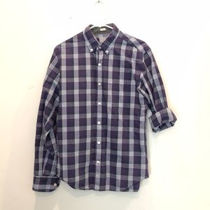 J. Crew Men's Medium Slim Purple Plaid Shirt